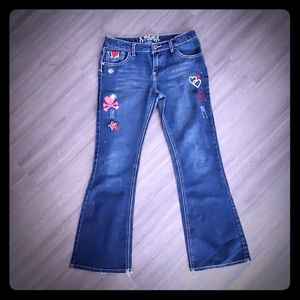 Cute decorated jeans